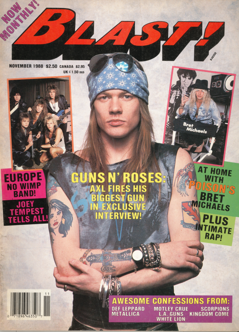 BLAST AXL NOV 1988 Axl Rose and Slash   Featured items