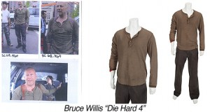 BW0007-Bruce Willis-Die Hard 4-Bloody Gauze, Tank, Shirt and Pants copy