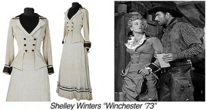 CR0123 Shelly Winters-Winchester 73-1880 grey blk 2pc dress copy