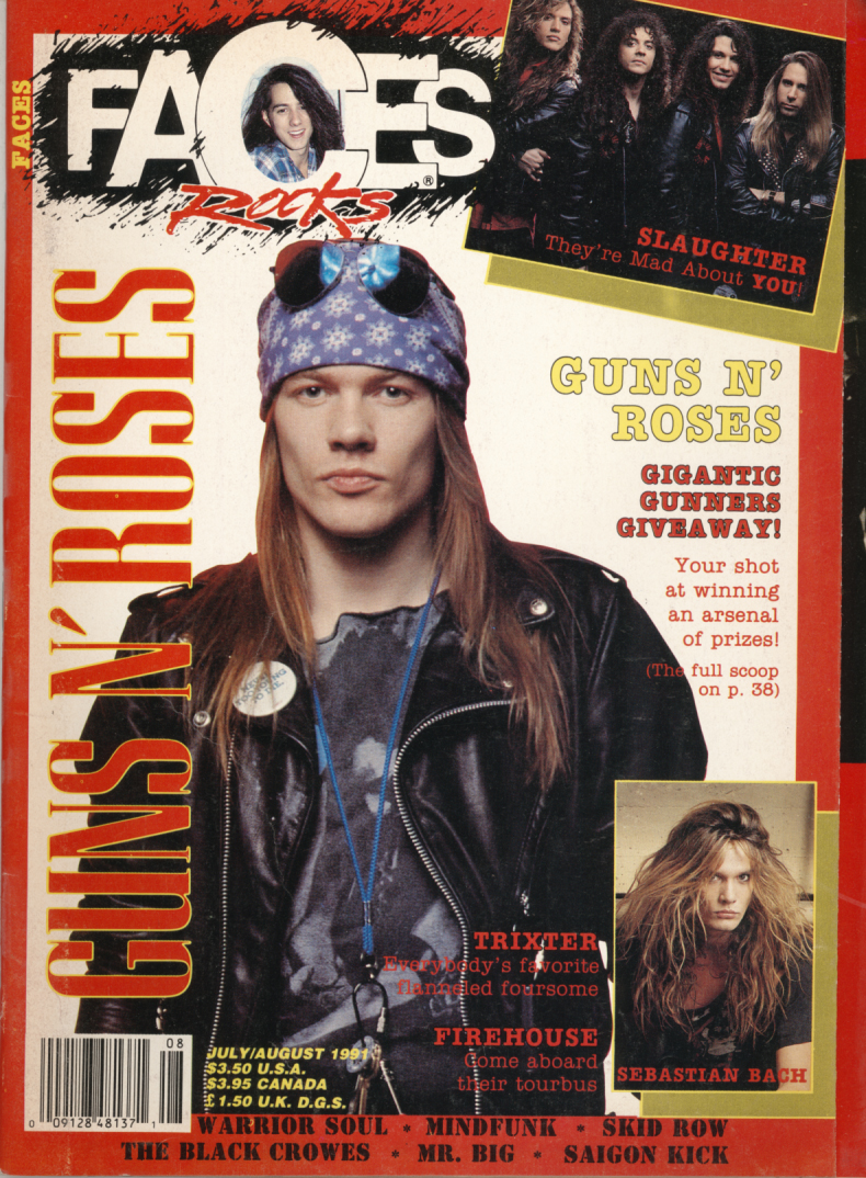 FACES GUNS AND ROSES Axl Rose and Slash   Featured items