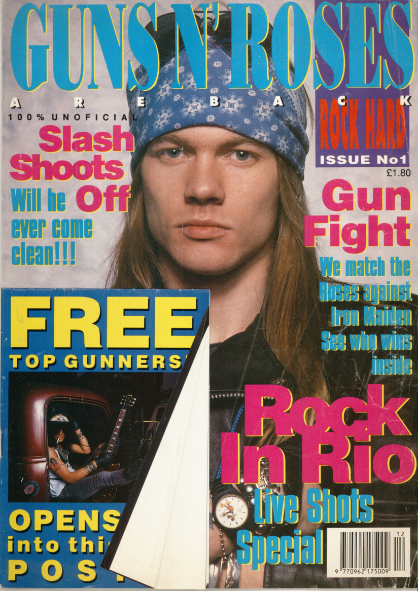 ROCH HARD GUNS AND ROSES Axl Rose and Slash   Featured items