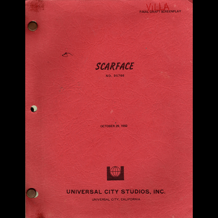 """Original cast / crew script from """"Scarface"""""""