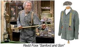 T0463-Redd Foxx-Sanford and Son-blue plaid cotton work shirt copy