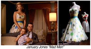 T0556-January Jones-Mad Men-Sad Clown Dress copy
