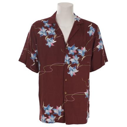 dd140db8 MAGNUM P.I. - Thomas Magnum (Tom Selleck) Burgundy Hawaiian Shirt ...