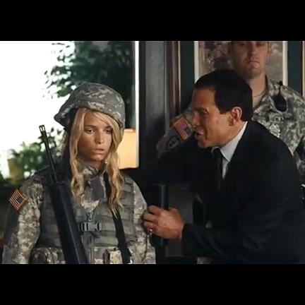 MAJOR MOVIE STAR   Megan Valentine (Jessica Simpson) Army Uniform | The  Golden Closet