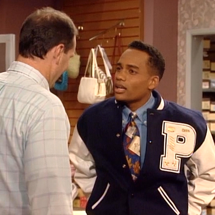 MARRIED… WITH CHILDREN - Aaron (Harper Hill) Polk High Letterman Jacket  with Insignia  e215edb42
